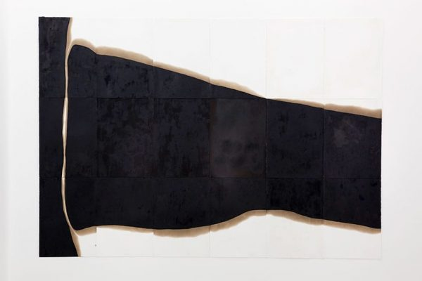 sem título I untitled 2009 asfalto sobre papel asphalt on paper 300×350 cm